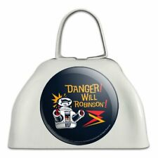 Danger Will Robinson B9 Robot Lost In Space White Cowbell Cow Bell Instrument