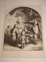 Adriaen van OSTADE 1610-1685 Gravure XVII CHARLATAN ECOLE HOLLANDAISE HELIO