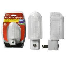 2 Pc Sensor LED Light Plug In Night Sensor Auto Dark Hallway Nightlight Stairs