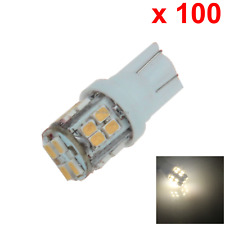 100x Warm white Car T10 W5W Tail Bulb Clearance Lamp 20 1206 SMD LED A044