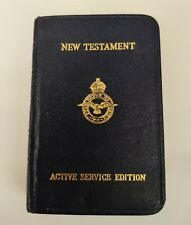 More details for new testament 1939 ww2  active service addition bible leather pocket sized