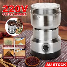Electric Coffee Grinder Grinding Milling Bean Nut Spice Matte Blender 220V AU