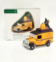 DEPT 56 HALLOWEEN SNOW VILLAGE EXPRESS DELIVERY TRUCK WITH WITCH PASSENGER