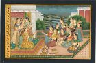 Mughal Miniature Art & Painting Prince Entertained By Women Musician On Paper