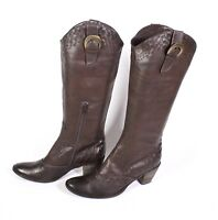 1S Frederica Balducci Damen Stiefel Boots Kunstleder braun Gr. 39 Blockabsatz