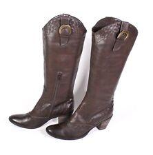 #1S Frederica Balducci Damen Stiefel Boots Kunstleder braun Gr. 39 Blockabsatz