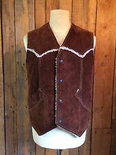 vtg LEVIS fur lined SUEDE waistcoat CHORE vest MEDIUM 38 chest RARE white tab