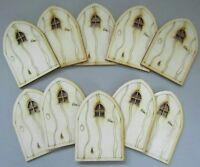 Rustic Wooden Fairy Door 10 Pack Rustic style Fairy Doors Plywood