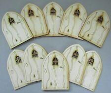 Wooden Fairy Door Pack – 10 x Rustic-style Fairy Doors. Designed & Made in UK