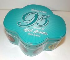 COLLECTIBLE GIRL SCOUT TIN_CELEBRATING 95 YRS 1912-2007 TREFOIL SHAPED TIN
