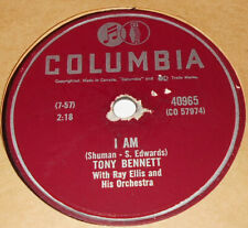 Columbia 40965 Tony Bennett I AM / In The Middle of An Island 78 RPM V+ V+