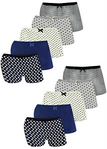 10 Mädchen Pantys Hipster Baumwolle Slips Unterhosen Unterwäsche Panties 92-158