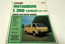 1980 1981 1982 1983 1984 1985 1986  MITSUBISHI L300 EXPRESS  Workshop Manual