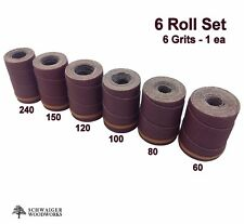 Drum Sander Sanding Wraps/Rolls, JET/Performax 16-32, Ryobi WBS1600, 6 Piece Set