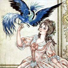 L'OISEAU BLEU Éditions Hachette Conte Madame d'Aulnoy Illutr. Lola Anglada c1920