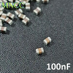 0805 2012 100nF 50V 10% MLCC Chip Capacitor SMD Multi Layer Ceramic X7R Loose