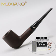 MUXIANG Wood Tobacco Pipes for Smoking with Free Accessories Filters Pipe Stand