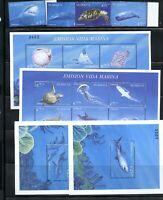 B145  Nicaragua 2000  fish marine turtles whales  set & sheets    MNH
