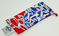 GENUINE OAKLEY SUNGLASSES MICROFIBER POUCH Small Red White Blue Cleaning Bag