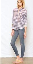 NWT CURRENT ELLIOTT Sz0 XS The Slim Boy Long Sleeve Shirt Cobalt Blue $198