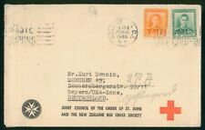 Mayfairstamps New Zealand 1948 Red Cross Society Wellington to Germany Cover wwr