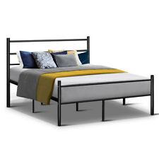 Artiss Metal Double Bed Frame 137cm x 190cm - Black