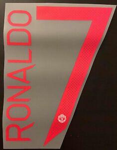 Flocage Cristiano Ronaldo #7 Manchester United. Name Set. Ext 2021 2022 Away C1