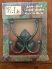 Metal Double Hook Leaf-Color Green - Mfg by Gala - New In Box