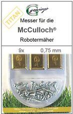 9 Titan repuesto-cuchillo suenan 0,75mm para McCulloch Rob r600 r1000 mc Culloch