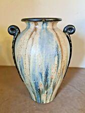 Ancien vase en Grés Art-Déco signé Hublet 32 cm de hauteur +- 1940