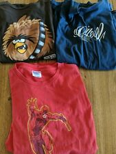 Lot Of 3 Men's T-shirts XL Daredevil Angry Birds Star Wars And O'Neill's
