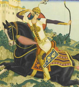 Edmund Dulac Queen Chand Poster Reproduction Paintings Giclee Canvas Print