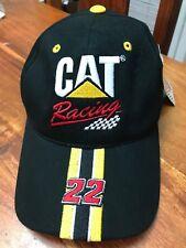 Nascar CAT Racing Baseball Cap Hat Black Ward Burton 22 Adjustable New (MB)