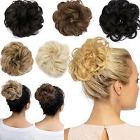 Large Drawstring Hair Bun Cover Hairpiece Clip in Synthetic Extensions Ponytail