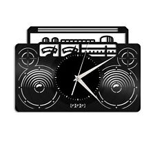 Boombox Vinyl Wall Clock Unique Gift for Music Lovers Friends Home Decoration