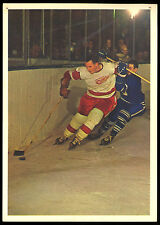 1963-64 TORONTO STARS IN ACTION BILL GADSBY DETROIT RED WINGS HOCKEY PHOTO CARD