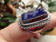 BELLE BAGUE ARGENT MASSIF 925 avec lapis lazuli  T.57 poinçon