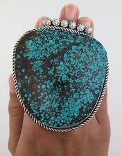 MASSIVE Sterling Silver & Turquoise 110 Gram Ring - Size 8.5 - HOLY MOLY!