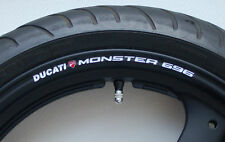 8 x DUCATI MONSTER 696 Wheel Rim Stickers Decals - s4 s4r s anniversary