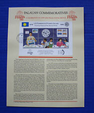 Palau (197) 1988 Us Possessions Philatelic Society 10th Anniv. Souvenir Page