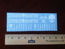 Zombie Hunter Weapon Decal Sticker Pack! WHITE!