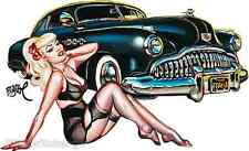 Black Magic Sticker Decal Artist Big Toe Classic Car And Girl BT45