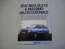 advertising Pubblicità 1985 SEAT IBIZA GLX 1.5