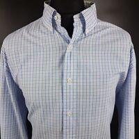 Polo Ralph Lauren Mens Shirt 2XL Long Sleeve Blue Custom Fit Check Cotton