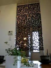 Noren japanese hanging scroll curtain Woody brown 88×150cm leaf style japan