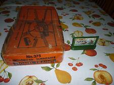 Vintage Postwar Lionel #375 Turn Table Original Box (Box Only) + Billboard