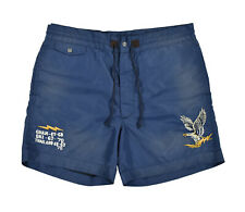 Ralph Lauren RRL Distressed Embroidered Military Eagle Board Shorts 38 New $295