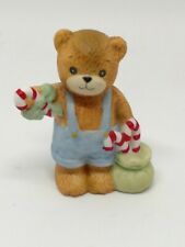 Vintage Lucy & Me Bear-Enesco-1985 Boy With Bag of Candy Canes - S229