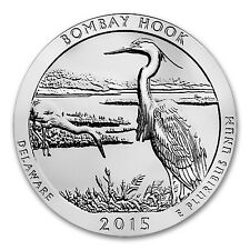 2015 5 oz Silver ATB Bombay Hook National Wildlife Refuge, DE - SKU #87610
