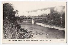 Pont C.P.R. Rivière Matapédia CAUSAPSCAL Quebec Canada 1940-50s Henderson RPPC